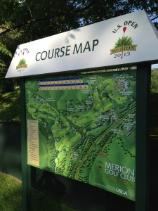 2013 US Open Merion Golf Club Cliff Satell - Us Open Course Map